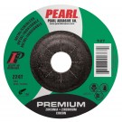 "Pearl Premium 5"" x 1/4"" x 7/8"" Depressed Center Grinding Wheel - Stainless (Pack of 25)"