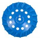 "Swirl Segmented Diamond Cup Wheels 4"" x 5/8"" - 11 - Mercer Blue Lightning"
