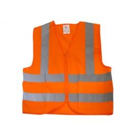 Safety Vest Orange High Visability with 2 Pockets