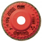 "Pearl REDLINE 4-1/2"" x 7/8"" CBT Trimmable Flap Disc - 60GRIT (Pack of 10)"
