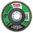 "Pearl Premium 5"" x 7/8"" Zirconia T27 Flap Disc - 80 GRIT (Pack of 10)"