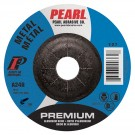 "Pearl Premium 4"" x 5/32"" x 5/8"" Depressed Center Grinding Wheel 24GRIT (Pack of 25)"