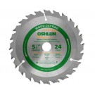 "WOOD CUTTING SAW BLADES 5 1/2"" X 5/8"" X 24T"