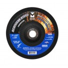 "Mercer 4 1/2"" x 1/4"" x 5/8""-11 Grinding Wheel TYPE 27 - Stainless Steel (Pack of 20)"