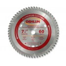 "Aluminum Cutting Saw Blades 7 1/4"" X 5/8"" X 60T"