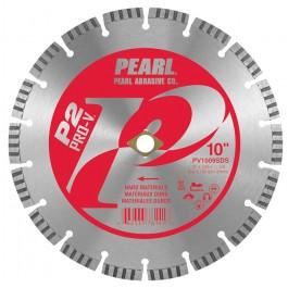 "Pearl 10"" x .095 x DIA, 5/8""  P2 PRO-V Hard Materials Diamond Blade"