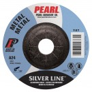 "Pearl SILVERLINE 4"" x 1/4"" x 5/8"" Depressed Center Grinding Wheel (Pack of 25)"