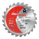 "Silver Lightning Wood Cutting Saw Blades 10"" x 5/8"" x 24T - 711001"