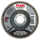 "Pearl Premium 4-1/2"" x 7/8"" Silicon Carbide T27 Flap Disc - 120 GRIT (Pack of 10)"