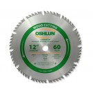 "WOOD CUTTING SAW BLADES 12"" X 1"" X 60T"