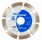 "Blue Lightning Diamond Saw Blades 4"" x .080 x 7/8"", 20mm, 5/8"" - Segmented"