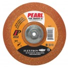"Pearl 4-1/2"" x 1/8"" x 5/8""-11 Flextron SRT Grinding Wheel 46 Grit  TYPE 27 - Metal (Pack of 10)"