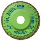 "Pearl GREENBACK 4-1/2"" x 7/8""Trimmable Zirconia Flap Disc - 120 GRIT (Pack of 10)"