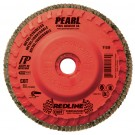 "Pearl REDLINE 4-1/2"" x 5/8""-11 CBT Trimmable Flap Disc -60 GRIT (Pack of 10)"