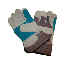 Leather Double Patch Palm Gloves - One Size
