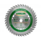 "WOOD CUTTING SAW BLADES 7 1/4"" X 5/8"" Diamond X 40T"