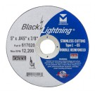 "Mercer Black Lightning 5"" x .045 x 7/8"" - Stainless Steel (Pack of 25)"