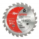 "Silver Lightning Wood Cutting Saw Blades 8 1/4"" x 5/8"" DIA x 40T - 718142"