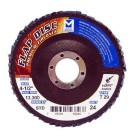 "Mercer Zirconia Flap Disc 4 1/2"" x 7/8"" 24grit Standard - T29 (Pack of 10)"