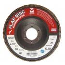 "Mercer Aluminum Oxide Flap Disc 4-1/2"" x 7/8"" 120grit HD - T29 (Pack of 10)"