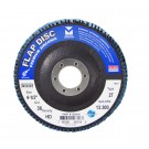 "Mercer Zirconia Flap Disc 4"" x 5/8"" 120grit Standard - T27 (Pack of 10)"