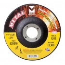 """Mercer 4 1/2"""" x 1/8"""" x 5/8""""-11 Grinding Wheel TYPE 27 - Metal (Pack of 20)"""
