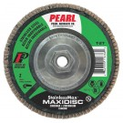 "Pearl StainlessMax 4-1/2"" x 5/8""-11 Zirconia T27 Flap Disc - 80 GRIT (Pack of 10)"
