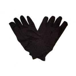 Brown Jersey Gloves 100% Cotton - One Size
