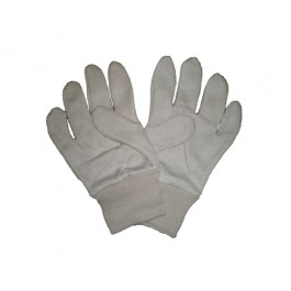 White Jersey Gloves Cotton 7oz - One Size