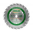 "WOOD CUTTING SAW BLADES 7 1/4"" X 5/8"" Diamond X 24T"