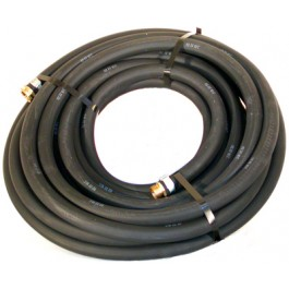 "Water Hose Goodyear Industrial 3/4"" x 50' Black Rubber 200psi - USA"