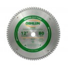 "WOOD CUTTING SAW BLADES 12"" X 1"" X 80T"
