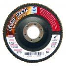 "Mercer Aluminum Oxide Flap Disc 4 1/2"" x 7/8"" 120grit Standard - T27 (Pack of 10)"