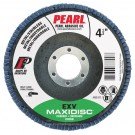 "Pearl EXV 4-1/2"" x 7/8"" Zirconia T29 Flap Disc - 60 GRIT (Pack of 10)"