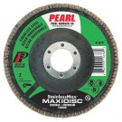 "Pearl StainlessMax 5"" x 7/8"" Zirconia T27 Flap Disc - 60 GRIT (Pack of 10)"