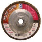 "Mercer Aluminum Oxide Flap Disc 4-1/2"" x 5/8""-11 80grit Standard - T27 (Pack of 10)"