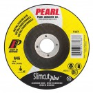 "Pearl 4 1/2"" x .045 x 7/8"" Slimcut Plus Depressed Center Cut-Off Wheels (Pack of 25)"