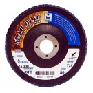 "Mercer Zirconia Flap Disc 4"" x 5/8"" 80grit Standard - T29 (Pack of 10)"