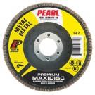 "Pearl Premium 4-1/2"" x 7/8"" AL/OX T27 Flap Disc - 60 GRIT (Pack of 10)"
