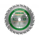 "WOOD CUTTING SAW BLADES 6 1/2"" X 5/8"" Diamond X 24T"