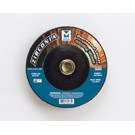 "Mercer 4 1/2"" x 1/4"" x 7/8"" Grinding Wheel TYPE 27 - Zirconia (Pack of 25)"