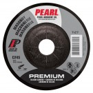 "Pearl Premium 4-1/2"" x 1/4"" x 7/8"" Depressed Center Grinding Wheel - Masonry (Pack of 25)"