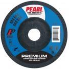 """Pearl 4-1/2"""" x 1/8"""" x 7/8"""" Grinding Wheel 60 Grit  TYPE 27 - Metal (Pack of 25)"""