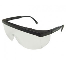"Safety Glasses ""Galaxy"" CLEAR Lens Black Frame"