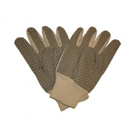 White Cotton Black Dot Gloves - One Size