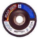 "Mercer Zirconia Flap Disc 4 1/2"" x 7/8"" 40grit HD - T29 (Pack of 10)"
