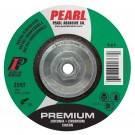 "Pearl Premium 4 1/2"" x 1/8"" x 5/8""-11 Depressed Center Grinding Wheel - Stainless (Pack of 10)"