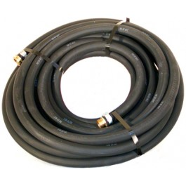 "Water Hose Goodyear Industrial 1/2"" x 75' Black Rubber 200psi - USA"