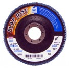 "Mercer Zirconia Flap Disc 4 1/2"" x 7/8"" 120grit Standard - T27 (Pack of 10)"