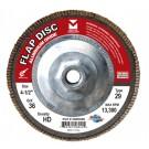"Mercer Aluminum Oxide Flap Disc 4-1/2"" x 5/8""-11 36grit HD - T29 (Pack of 10)"